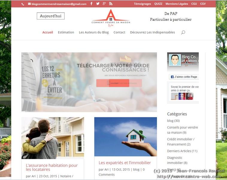 blog comment vendre sa maison centre web. Black Bedroom Furniture Sets. Home Design Ideas