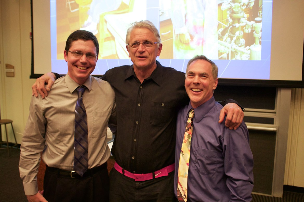 The Omicron Delta Kappa Life stories event took place on April 6, 2015 in Young Hall. Stephen Powell, Amos Tubb and Jeff Fieberg spent the evening sharing their life stories and answering student questions.