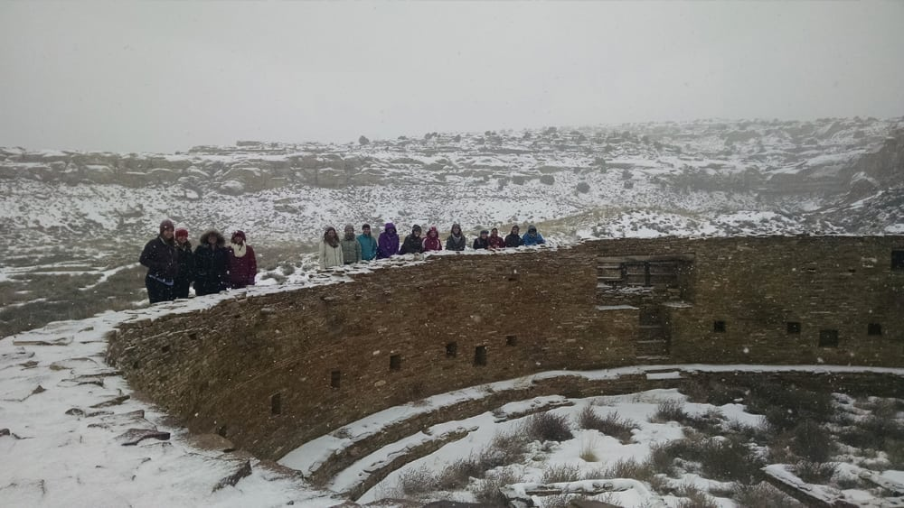Robin Cutright class in Chaco Canyon