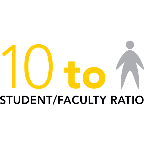 10 to 1 Student/Faculty Ratio