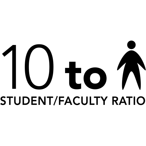 (infographic) 10 to 1 student/faculty ratio