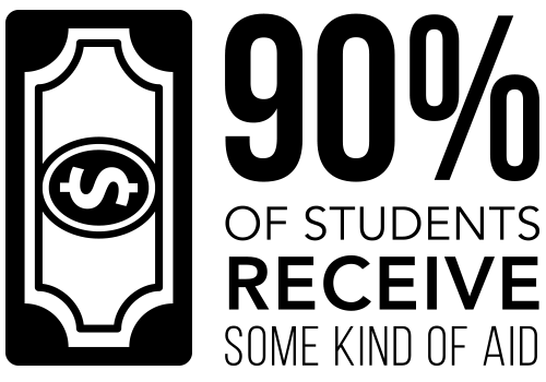 (infographic) 90 percent of students receive some kind of aid
