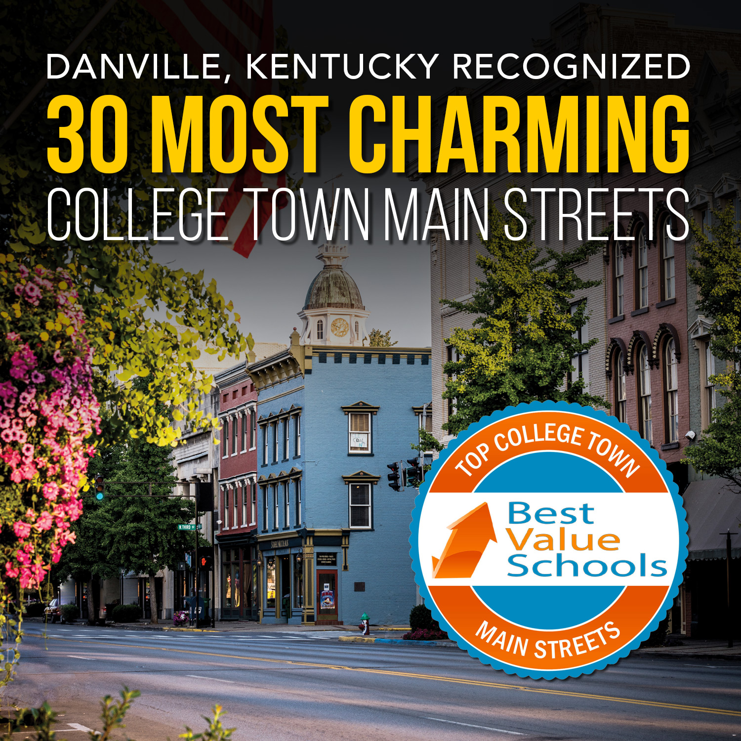 (infographic) Danville recognized as charming college town