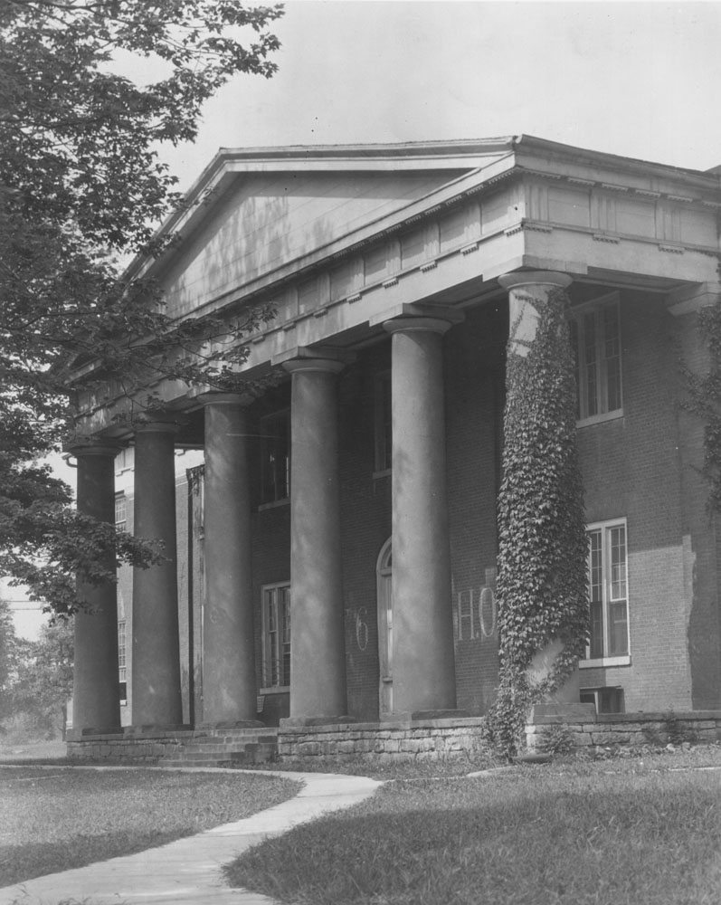 black and white photo of Old Centre