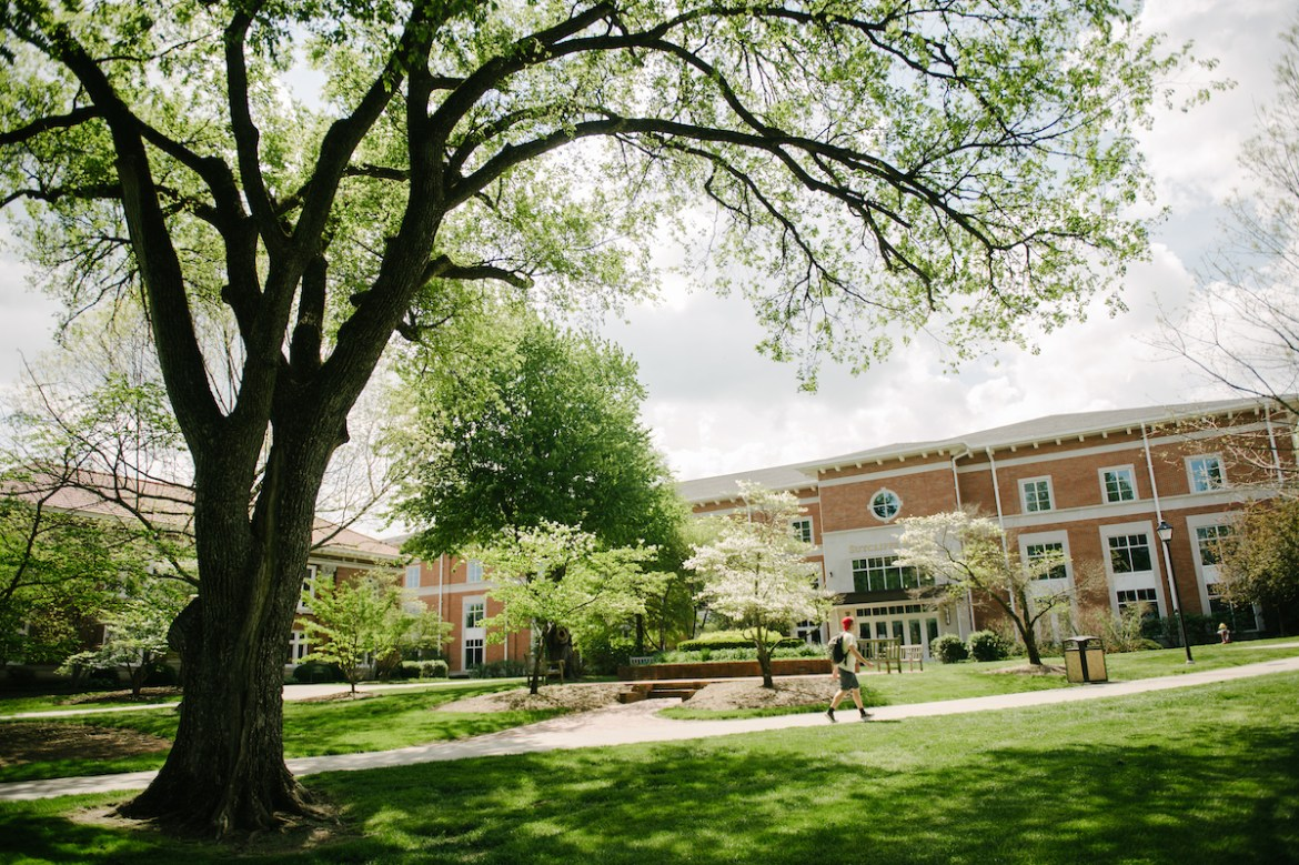 the area in front of Sutcliffe Hall