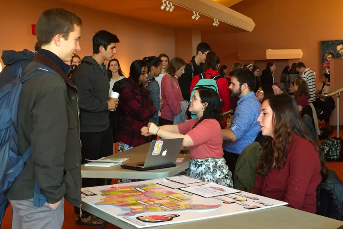 environmental politics students share their research at Centre's Norton Center for the Arts