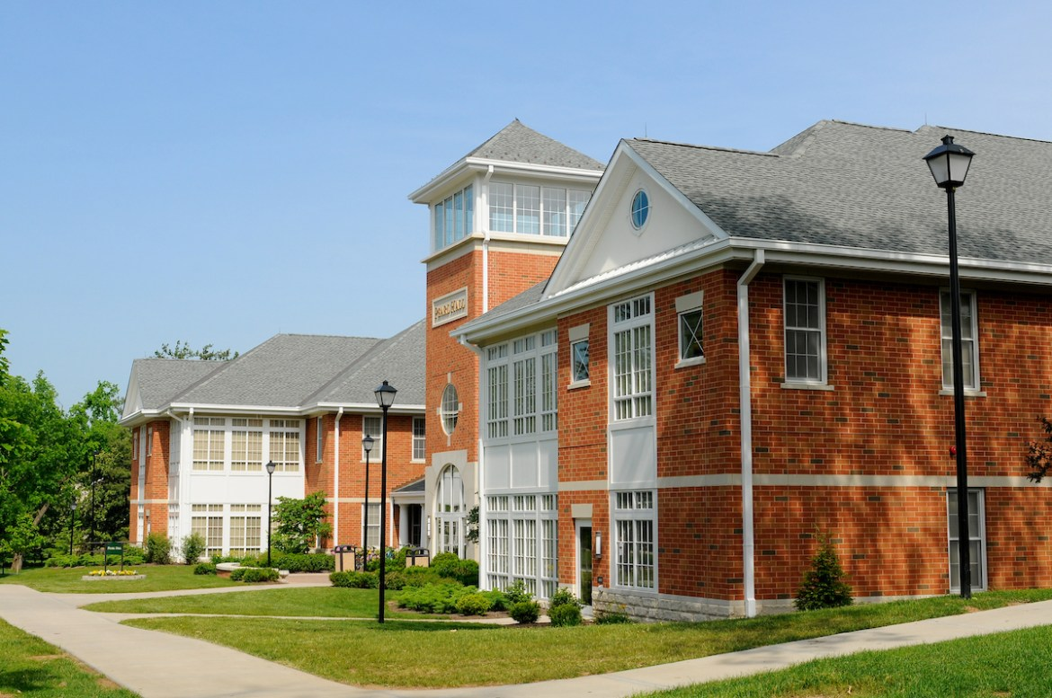 daytime exterior of Pearl Hall