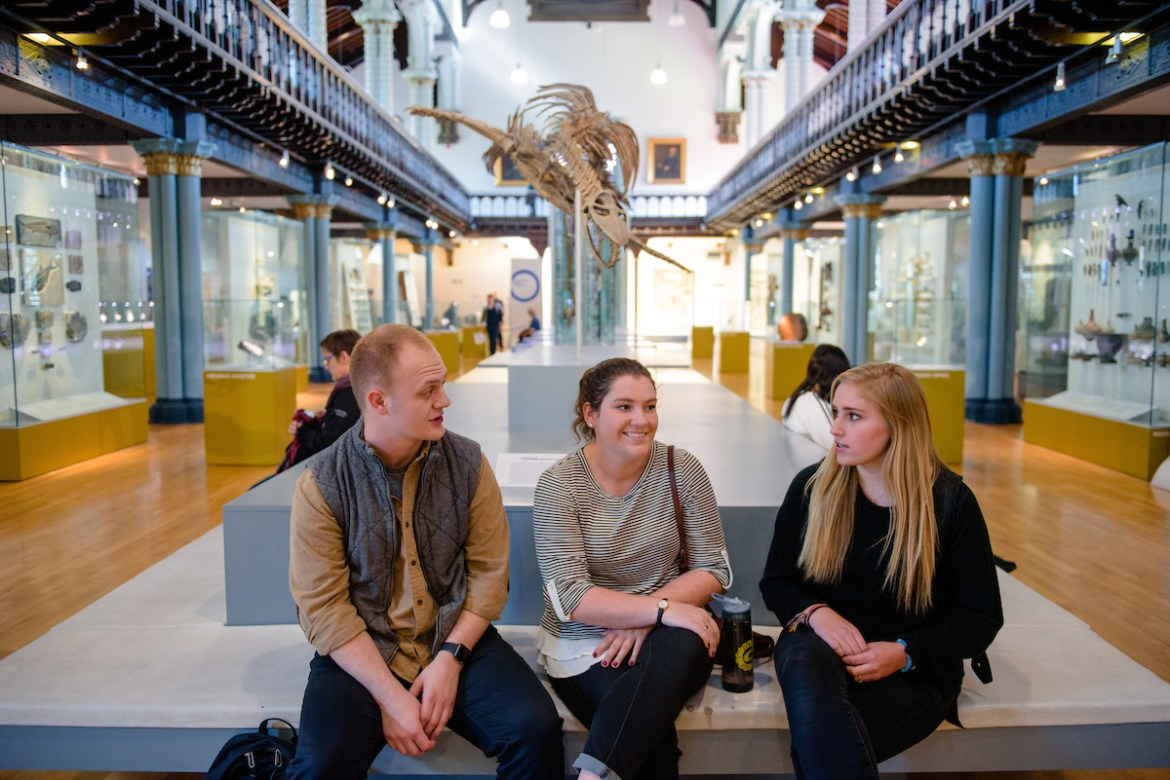 Centre students in a Glasgow museum