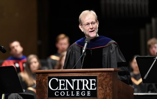 Rick Axtell delivers Baccalaureate sermon during Commencement 195.