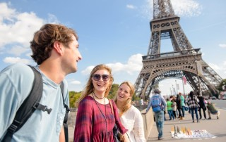 students studying abroad in France