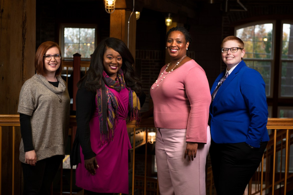 Diversity and Inclusion Office staff from left: Amanda DeWitt, Ashley Oliver, Andrea Abrams, and Jo Teut