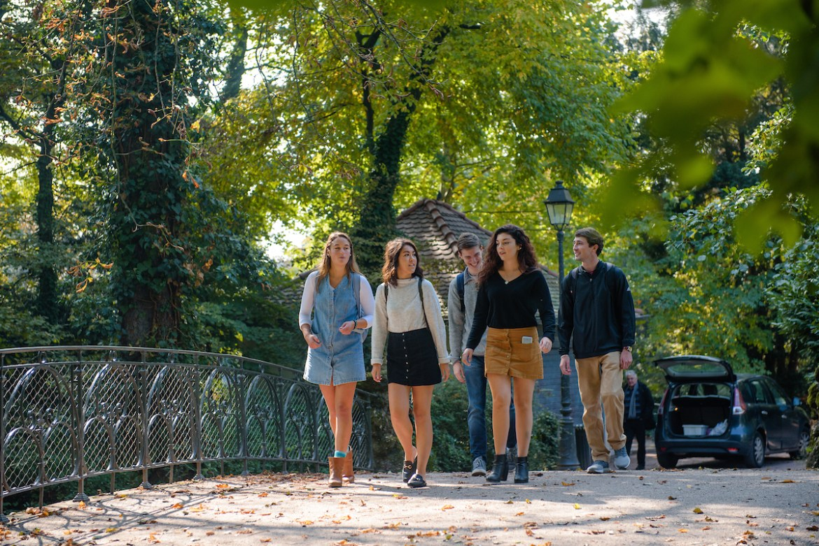 Students in Strasbourg enjoy a typical day around town on September 27, 2017. Locations Include Parc Orangerie, La Petit France.