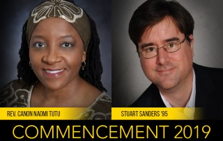 Tutu and Sanders 2019 Commencement