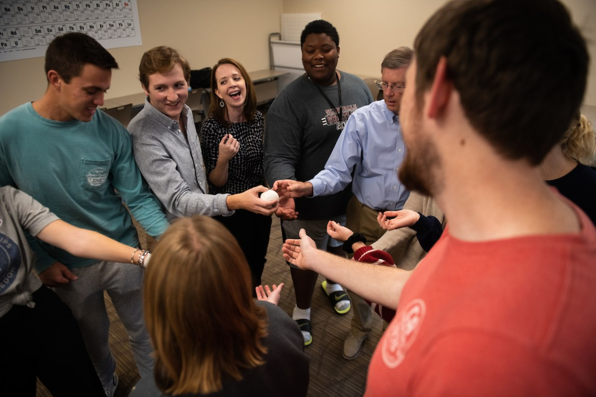 Students, faculty and staff gathered for a day of community building events during the Building Bridges Event.