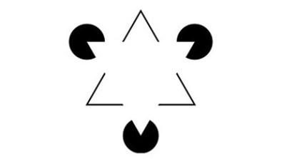 Cognitive illusions – Kanizsa's Triangle