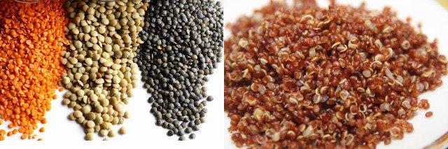 Lentilles-Quinoa