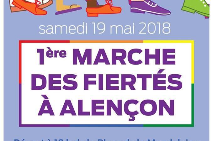 Orn'en Ciel a organisé la 1ere marche des fiertés LGBTI d'Alençon!