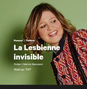 Affiche spectacle la lesbienne invisible