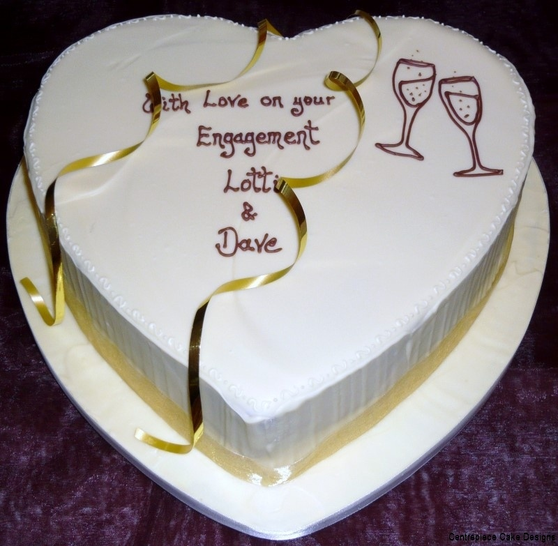 Engagement Cakes From 163 60 00 Centrepiece Cake Designs