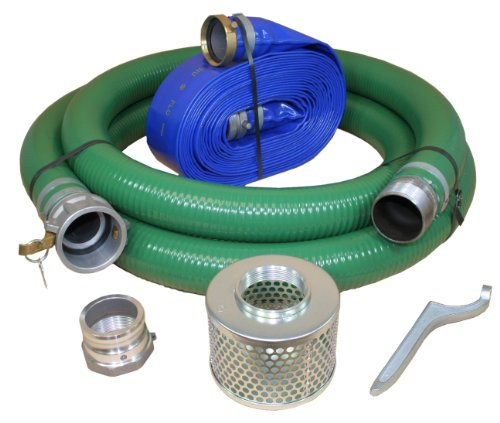 Anderson Pump /& Process 2 X 20 Green PVC Water Suction Hose Assembly w//Pin Lug Fittings