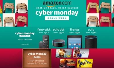 Amazon Cyber Monday 2017 Deals Sales Ad: Echo, Echo Dot, Fire TV, Kindle, Could Cam, 4K HDTVs