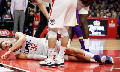 Los Angeles Clippers Blake Griffin injures left knee Nov 27 2017