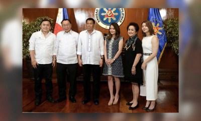 Philippine President Rodrigo Duterte Tourism Sec. Bernadette Romulo Puyat 2018MAY16