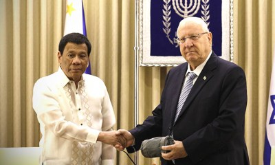 Duterte forge a deal with Rivlin, PH will only acquire military weapons from Israel