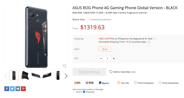 Asus ROG Phone Release Date Listing 003