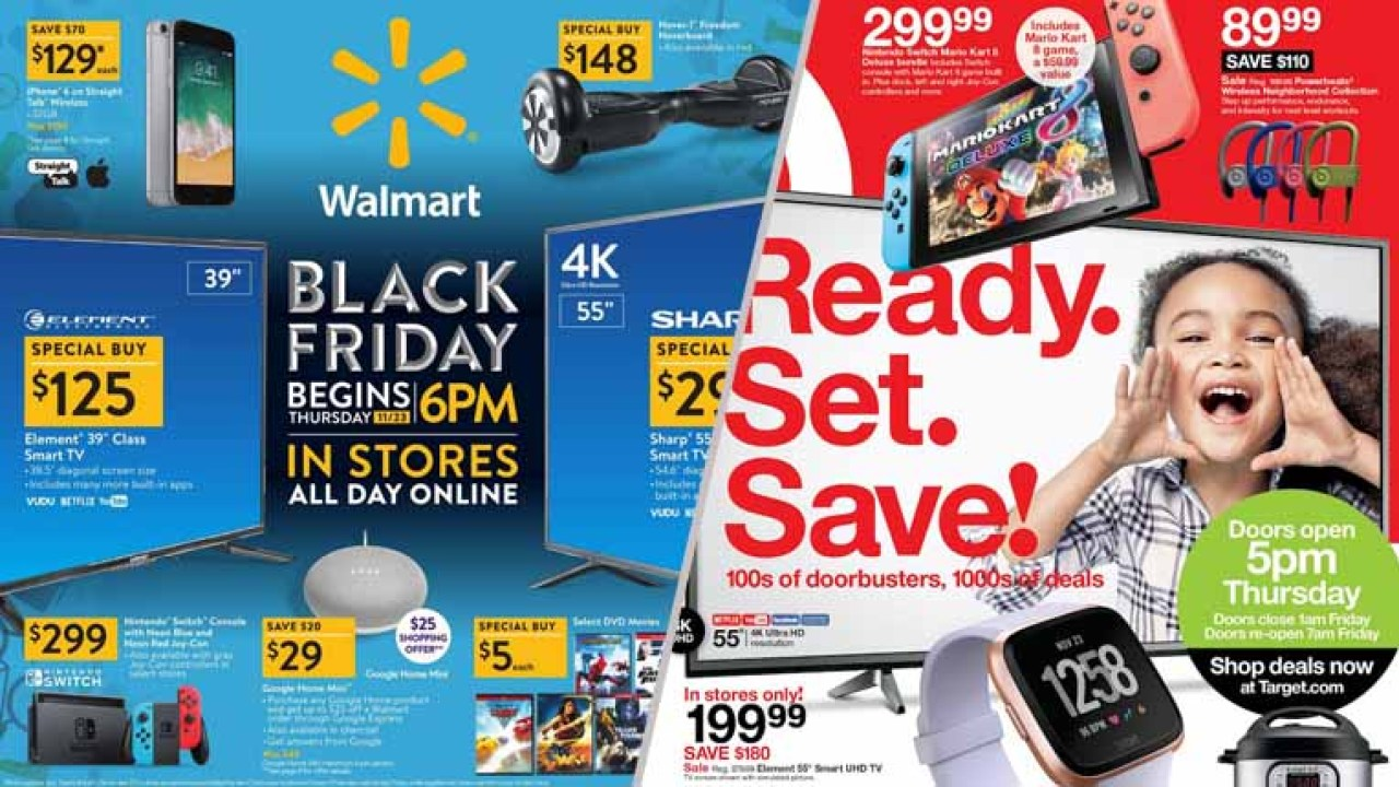 Walmart Vs Target Black Friday Deals Face Off 2018 Ad Release Date In Store And Online Sales Battle Centrio News