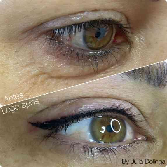 Eyeliner - Antes e Depois