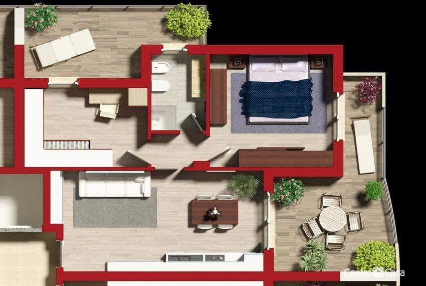Pianta Appartamento tipo A_03