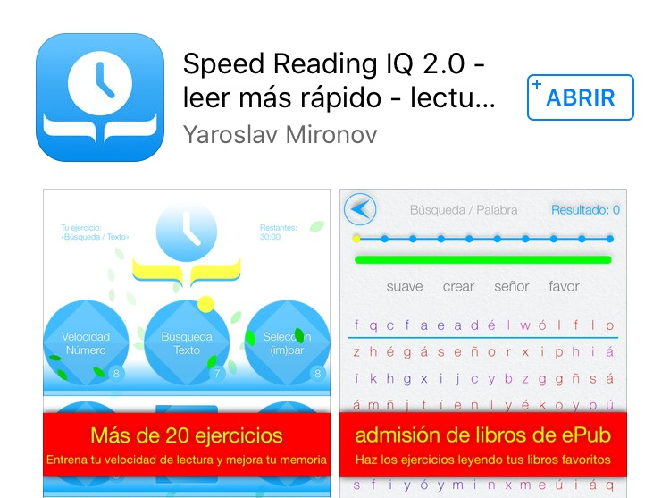 Speed Reading. Velocidad lectora.