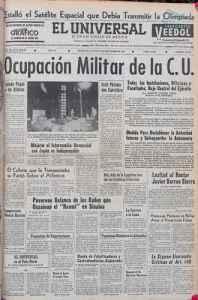 18 de septiembre de 1968 Ocupacion militar de CU