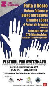 20141209 Festival por Ayotzinapa en Uruguay