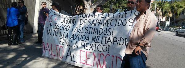 LA, California: Marcha y acto político cultural para exigir presentación con vida de más de 50,000 desaparecidos en México.