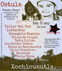 Fiesta-bazar en apoyo a Ostula y Xochicuautla