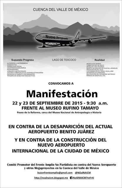 Manifestacion contra aeropuerto el nuevo aeropuerto