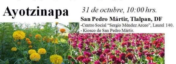 31 oct: Venta solidaria de flores de Ayotzinapa