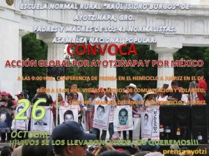 XVII Accion Global por Ayotzinapa
