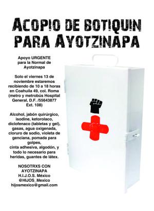 Acopio de botiquin para Ayotzinapa