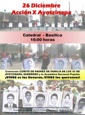 26 dic XIX Accion Global por Ayotzinapa
