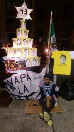 43 horas de huelga de hambre por los 43 de Ayotzinapa en Nueva York