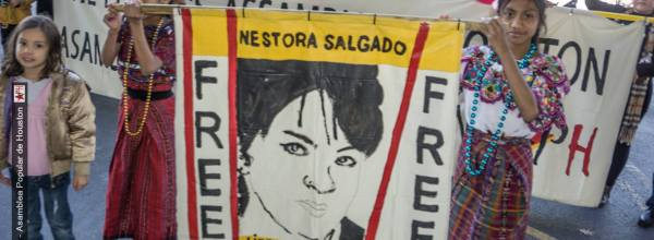 La Asamblea Popular de Houston marcha por los 43 de Ayotzinapa y Nestora Salgado
