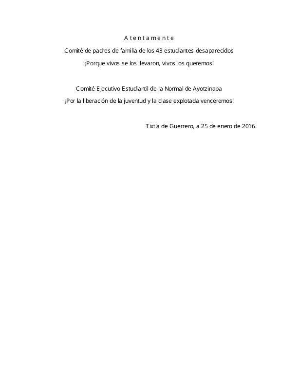 Llamado a la XX Accion Global por Ayotzinapa 2