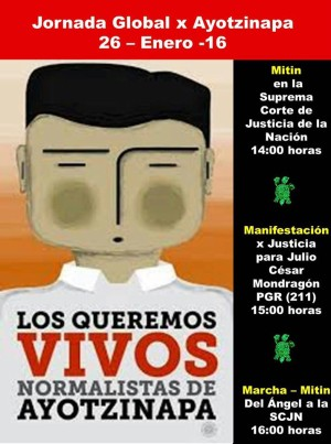 XX Accio Global por Ayotzinapa-