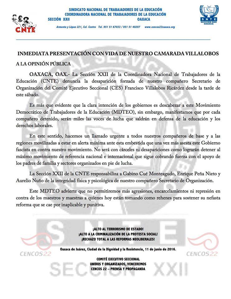 20160611 Desaparicion de Francisco Villalobos Ricardez