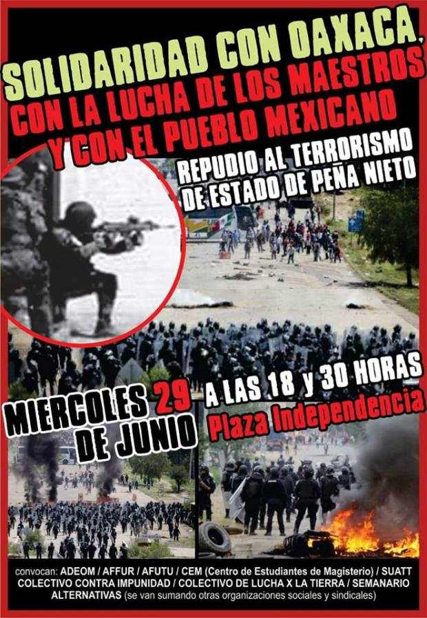 20160629UruguayEnSolidaridadConOaxaca
