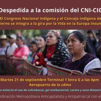 21 sep, 4 PM: Invitan a la despedida de la comisión del CNI-CIG que participará en la Travesía por la vida en la Europa Insumisa