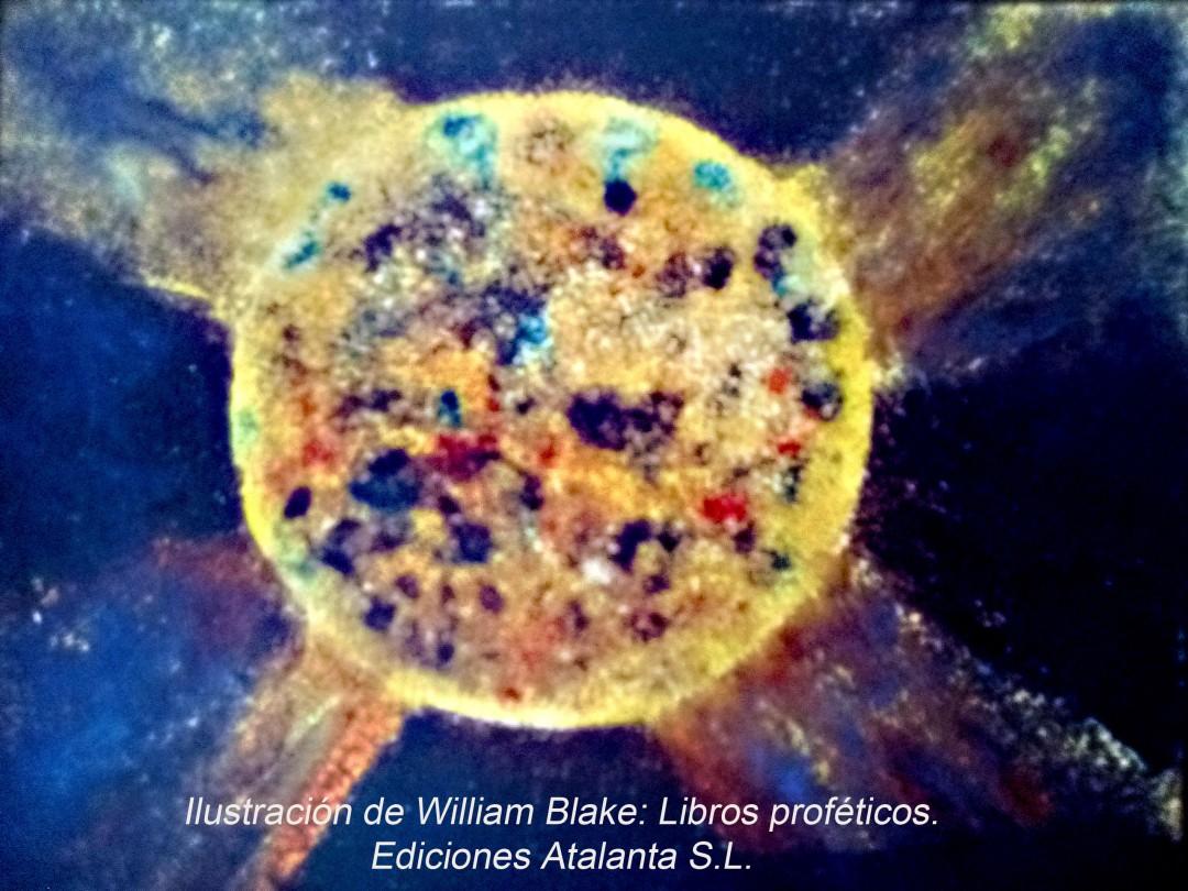Ilustración de William Blake: Libros proféticos. Ediciones Atalanta S.L.